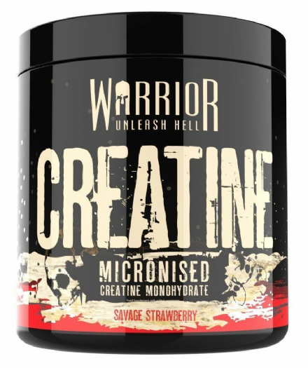 Warrior Creatine Monohydrate Powder 300g; 100% Pure Micronised, Flavoured